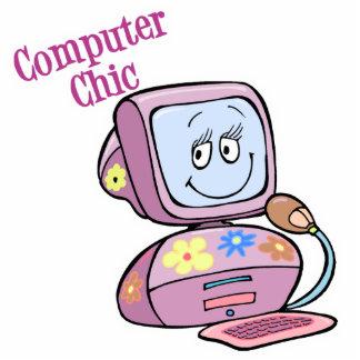 Cute Computer Chic Design Photo Sculpture