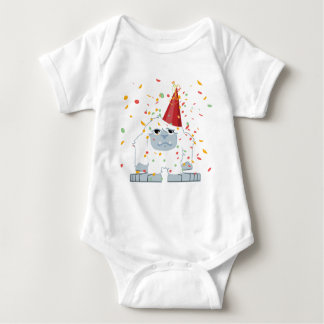 Cute Confetti Party Yeti Baby Bodysuit