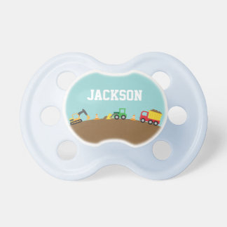 Cute Construction Vehicles For Baby Boys Pacifier