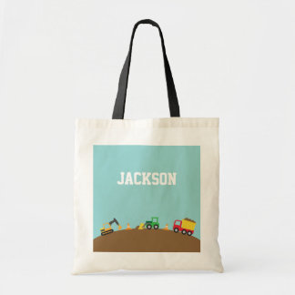 Cute Construction Vehicles For Boys Budget Tote Bag