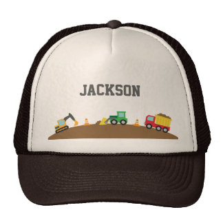Cute Construction Vehicles For Boys Hat
