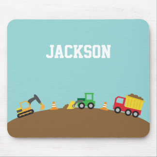 Cute Construction Vehicles For Boys Mouse Pad