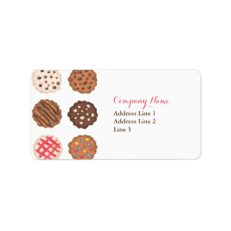 Cute Cookies Cookie Business Address Label