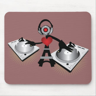 Cute & Cool DJ Character With Decks Mouse Pad