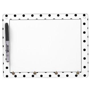 Cute, cool,  fun B&W polka dots dry erase board. Dry Erase Boards