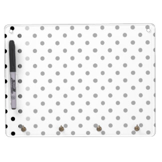 Cute, cool,  fun B&W polka dots dry erase board. Dry-Erase Whiteboards