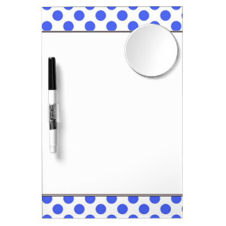 Cute, cool,  fun blue polka dots dry erase board. dry erase board