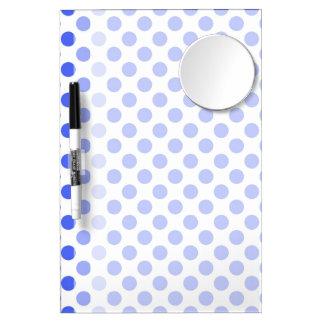 Cute, cool,  fun blue polka dots dry erase board. dry erase whiteboard