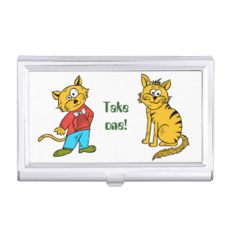 Cute, cool, fun little tigers in red and blue suit business card case
