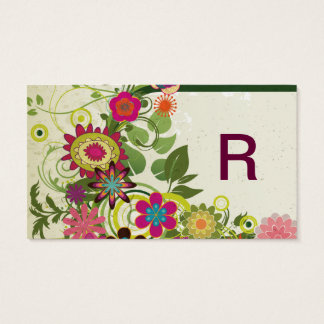 Cute Cool Girly Retro Floral Fashion Business Card