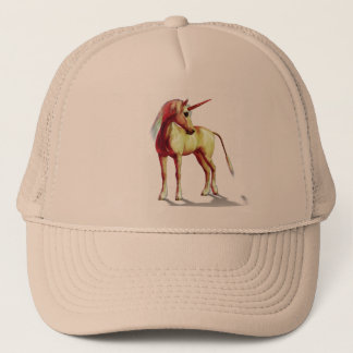 Cute Cool Pink Standing Unicorn Symbol Of Purity Trucker Hat