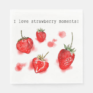 Cute cool summer strawberry napkin disposable napkins