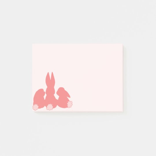 Cute Coral Bunnies Post-it® Notes