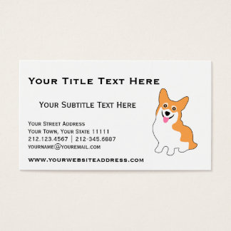 Cute Corgi for Breeder, Dog Trainer, Dog Walker Business Card