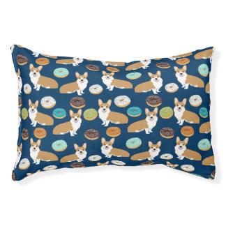 Cute corgi pattern dog bed
