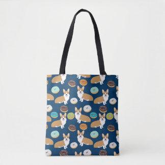 Cute corgi pattern tote bag - corgi bag
