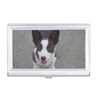 Cute Corgi Puppy Business Card Holder
