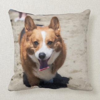 Cute Corgi reversible 2sided throw pillow
