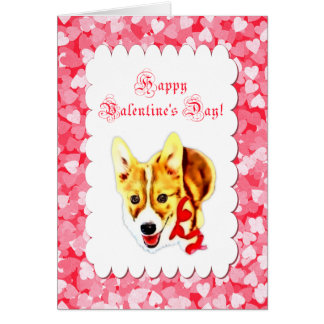 Cute Corgi Valentine's Day Card