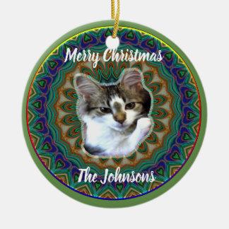 Cute Cosmic Kitten Christmas Ornament