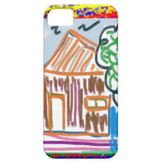 CUTE COTTAGE Sweet Home KIDDISH Art FUN iPhone 5/5S Cases