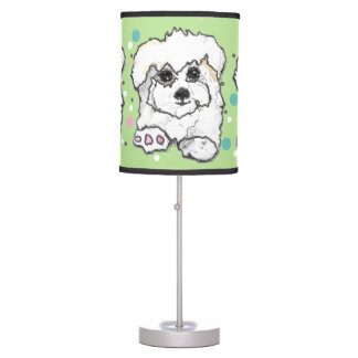Cute Cotton Cupcake Puppy Table Lamp