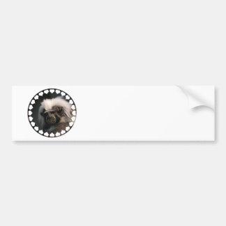 Cute Cotton Topped Tamarin  Bumper Sticker