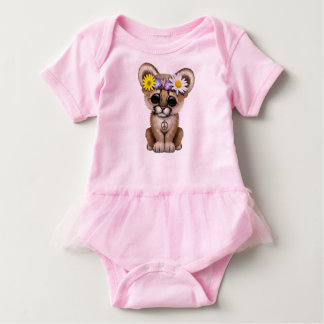 Cute Cougar Cub Hippie Baby Bodysuit