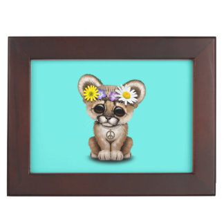 Cute Cougar Cub Hippie Keepsake Box