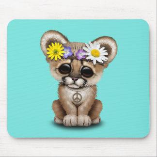 Cute Cougar Cub Hippie Mouse Pad