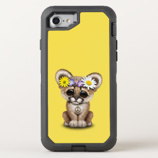 Cute Cougar Cub Hippie OtterBox Defender iPhone 8/7 Case