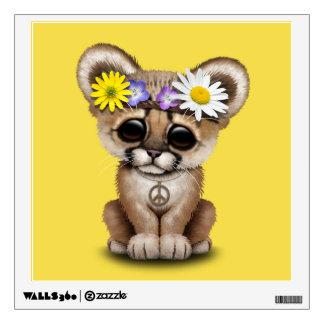 Cute Cougar Cub Hippie Wall Decal