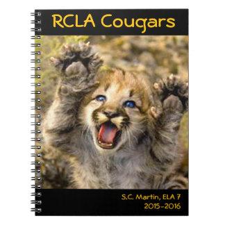 Cute Cougar Cub Spiral Note Book