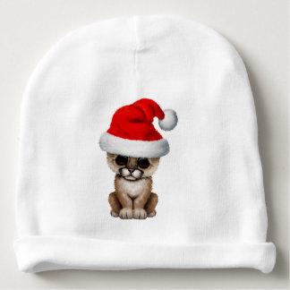 Cute Cougar Cub Wearing a Santa Hat Baby Beanie