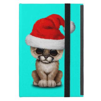 Cute Cougar Cub Wearing a Santa Hat Cover For iPad Mini