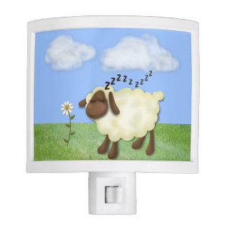 "Cute ""Counting Sheep"" Night Light"