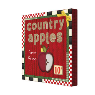 """""""Cute Country Apple"""" CANVAS PRINT"""