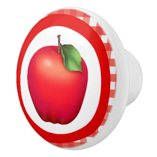 Cute Country apple fruit kitchen knob