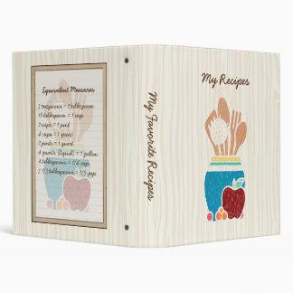 Cute Country Kitchen Utensils Cookbook Recipies Vinyl Binders