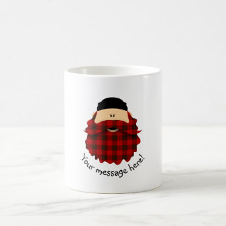 Cute Country Plaid Flannel Red Bearded Character Coffee Mug