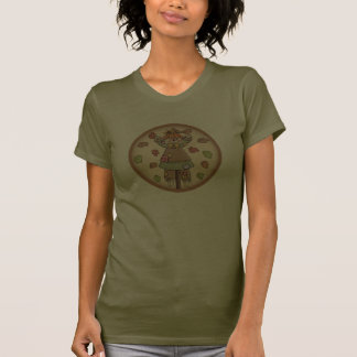 Cute Country Scarecrow with Autumn Leaves Shirt