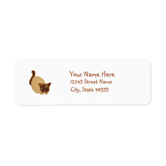Cute Country Style Yellow Cat Return Address Label