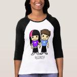 Cute Couple 3/4 Sleeve Raglan T-shirts