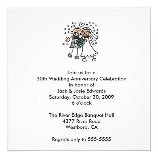 Cute Couple Anniversary Invitation