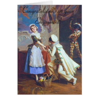 Cute Couple Engagement Card