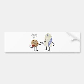 Cute Couple - Milk and Cookie Bumper Sticker