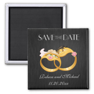 "Cute ""couple's ring"" Save the Date magnets"