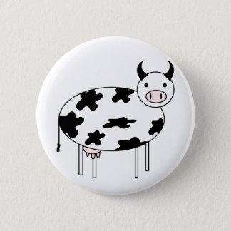 Cute Cow 2 Inch Round Button