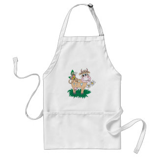 cute cow and butterfly standard apron