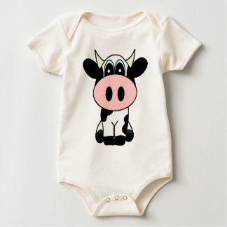 Cute Cow Baby Bodysuit